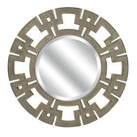 Round wall décor is not only beautiful but trendy. In fact, whether it be a chic round wall  clock, or piece of round metal wall art or even a round mirror wall art, you  will appreciate the variety of materials available that round wall art comes  in.       IMAX 70374 Carolyn Kinder Gustav Round Wall Mirror, Taupe