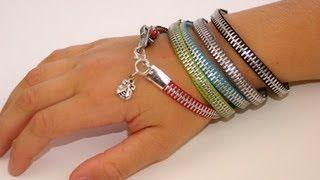 5 minute cute zipper bracelet!  SO making one!  (or more...)  DIY Zipper Bracelet   ShowMeCute, via YouTube.