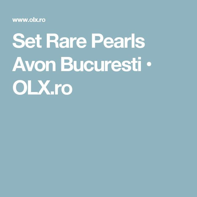 Set Rare Pearls Avon Bucuresti  • OLX.ro
