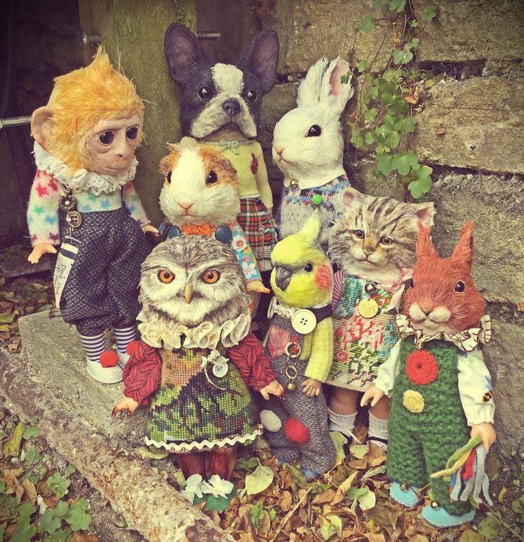 Annie Montgomerie Art dolls (please follow minkshmink on pinterest)