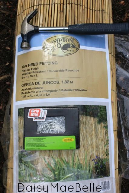 Supplies for Reed Fence