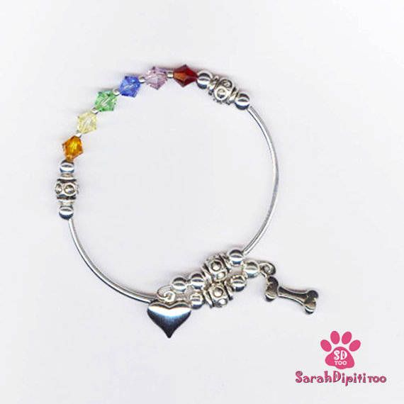 Jewelry Rainbow Bridge,Remember a Pet,Pet Loss Bracelet,Silver Plate Rainbow Bridge Jewelry, Pet Loss Jewelry, Dog Loss, Pet Memorial by SarahDipitiToo on Etsy