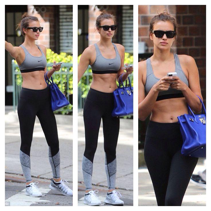 Irina Shayk - gym/workout wear - love those leggings