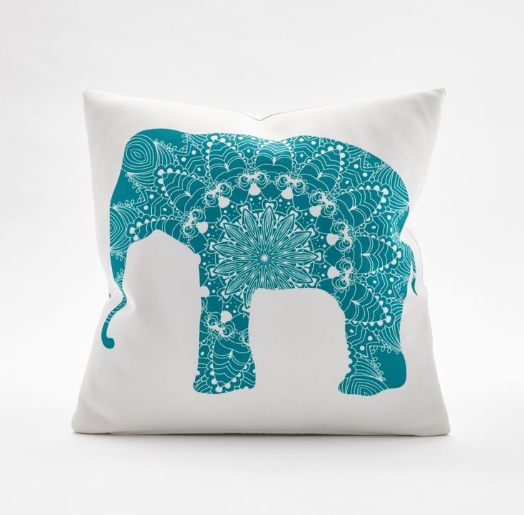 Add a touch of Zen and a pop of color with the Elephant Throw Pillow.