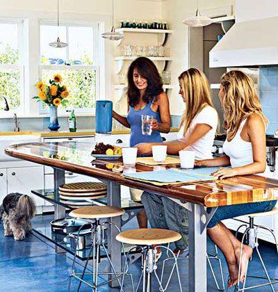 Surfboard Kitchen Idea Try Cutting The Island Butcher