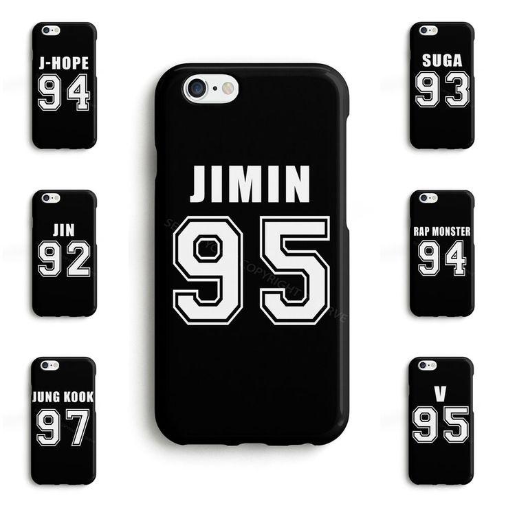 BTS Bangtan Boys JUNG KOOK JIMIN V JIN Kpop Phone Case Cover for iPhone Samsung #SeventyCase