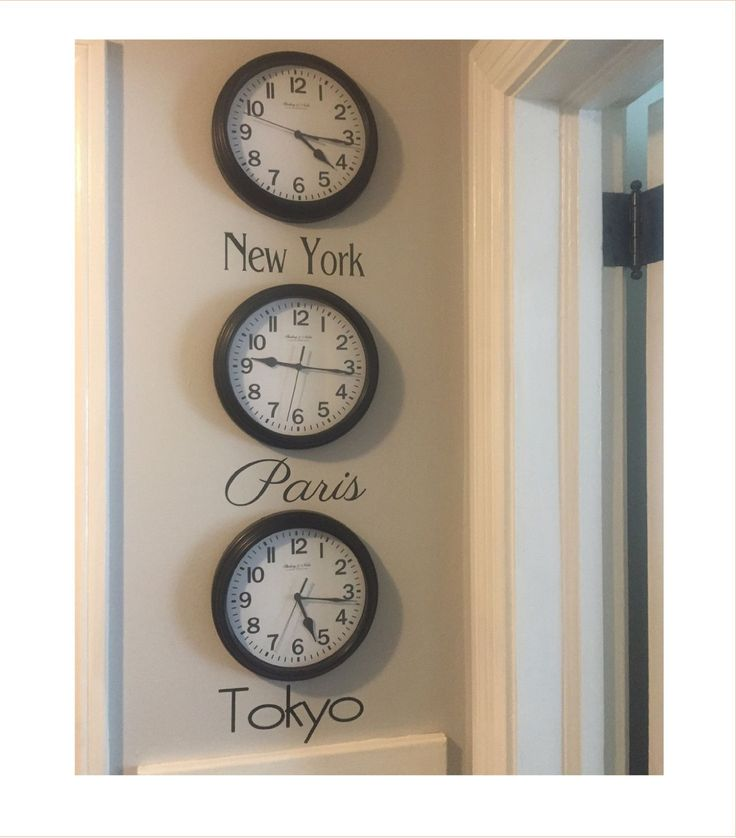 Time Zone Decal - City Names Decal - City Names for Clocks - Bucket List - Favorite Cities - Favorite City Time Zones - DIY Time Zone Clocks by NashSignsAndGraphix on Etsy