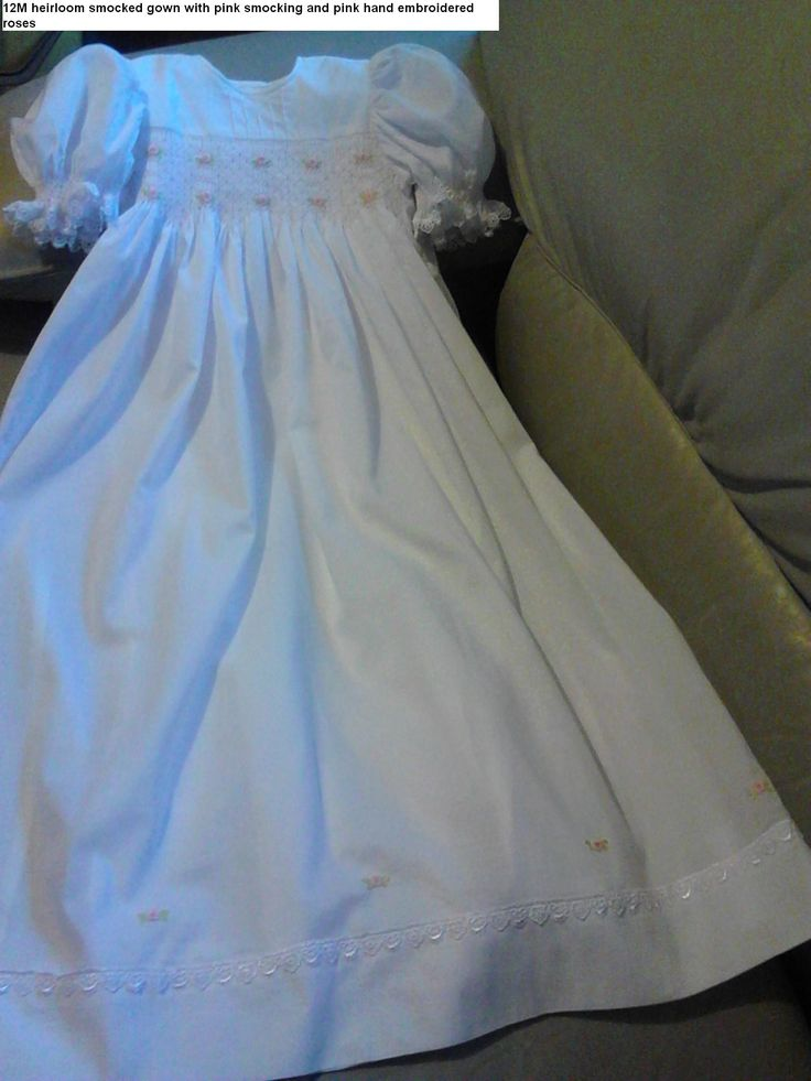 new smocked heirloom gowns 0427820744