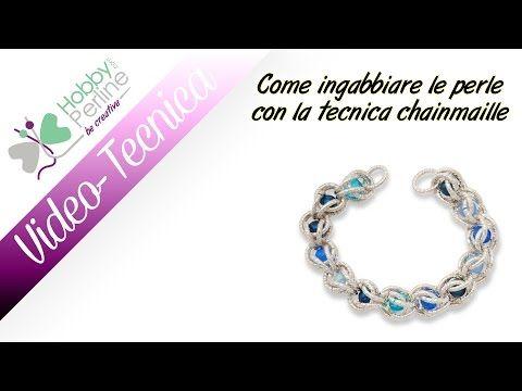 Come ingabbiare le perle con la tecnica chainmaille | TECNICA - HobbyPer...