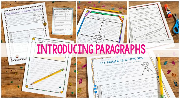 Introducing paragraphs and writing instruction with