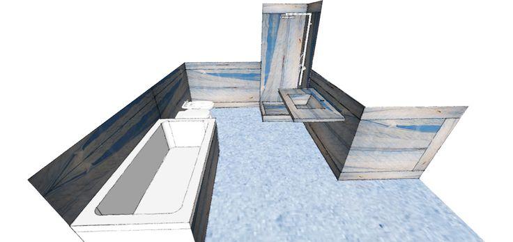 0006 progetto bagno in granito azul macaubas, design by blancomarmo.it