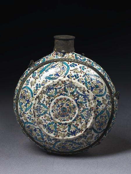 Pilgrim flask      Place of origin:      Kütahya (City), Turkey (made)     Turkey     Date:      1750-1775 (made)