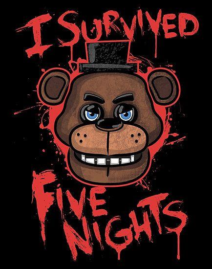 """""""Http: //i61.tinypic.com/24l1lbk.jpg!"""": Http: //www.redbubble.com/people/fnaftees/shop cinco noches en Freddy es un juego de terror que cuenta como un trabajador mal pagado a Freddy Fazbear de pizza, un tipo de queso pizzería familiar Chuck E., contratado para un trabajo increíblemente satisfactorio como un guardia de noche. Te encanta la comida. Te encanta la diversión y el juego. Ahora te encantará esta imagen Cinco Noches En Pizza c..."""