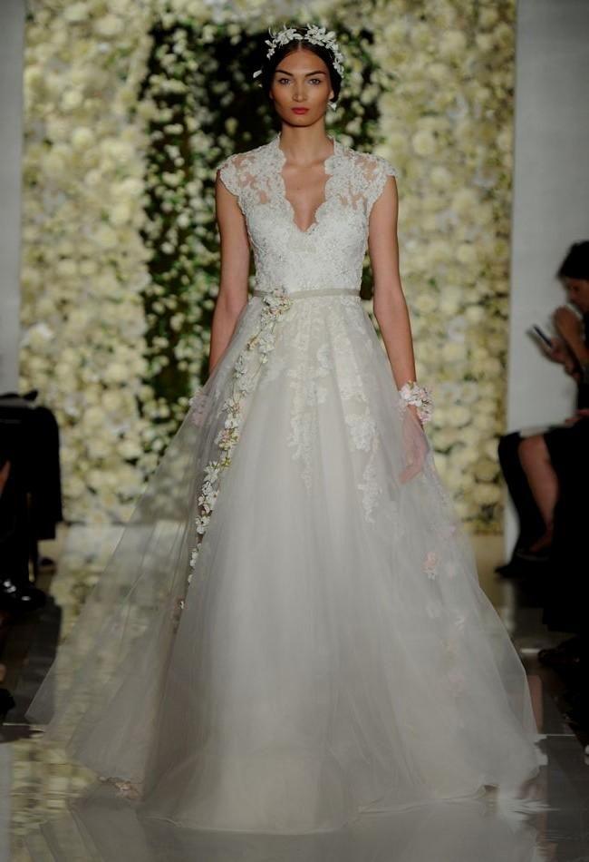 4bbf3ba3d8a Reem Acra Featured Sheer Crop Top Wedding Dresses and Full ...  #beautifulweddingdresses