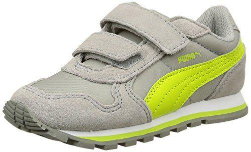 Puma ST Runner NL V Inf, Unisex-Kinder Sneakers, Grau (limestone gray-lime punch 09), 32 EU (13 Kinder UK) - http://on-line-kaufen.de/puma/32-eu-puma-st-runner-nl-v-inf-unisex-kinder-sneakers-3