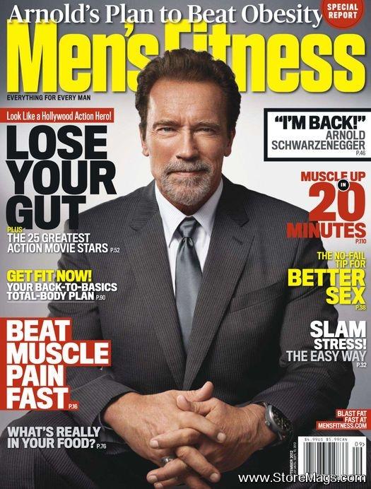Arnold Schwarzenegger - Men's Fitness Magazine Cover [United States] (September 2012)