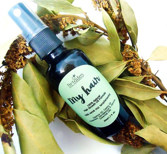 Organic hair growth oil. Castor oil, bay leaves oil and essential oils that stimulate new hair growth, preven hair loss and make hair thick, shiny and healthy. Freshly #Handmade to order by #Driades #hairloss #baldness #etsyshop #etsygifts #etsyfinds #castoroil #healthyhair #naturalhaircare #organic #essentialoils #hairgrowth #haircare #naturalhair #healthyhair #homemade #natural #veganbeauty