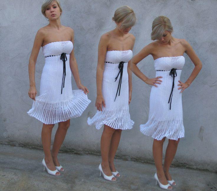 Crochet dress Romantic look silk thread by kovale on Etsy