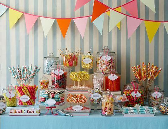 sweet candy buffet setup