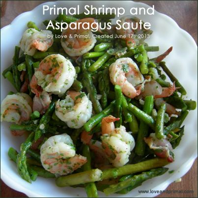 Shrimp and Asparagus Saute. Asparagus is great for steaming and for stir-frying. It's also a great complement to seafood. This is a great one-skillet recipe