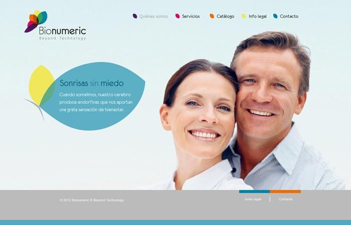 Diseño para web de Bionumeric