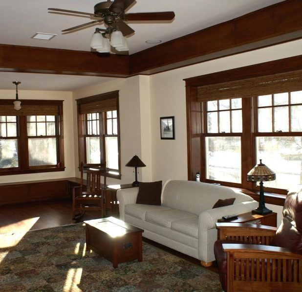 Inspiring Craftsman Style Furniture Family Room Eclectic With Arts And Crafts Office Interior Craftsman Style Office Buildings