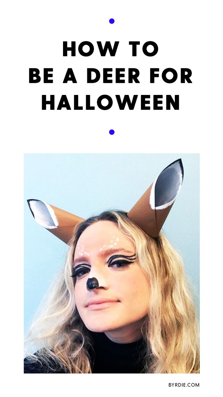 How to be a deer for Halloween