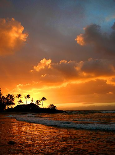 Sunrise on the east shore of Kauai