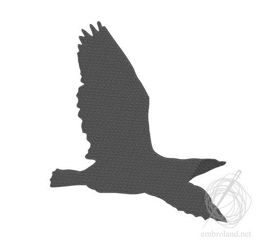 Bird Machine Embroidery Design Instant Download Five