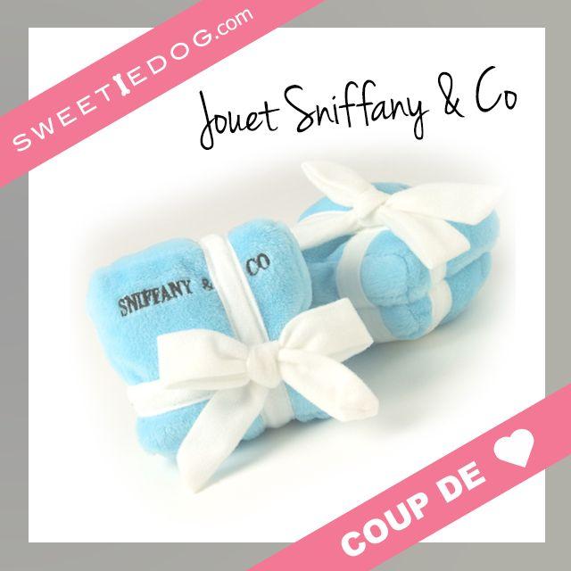 Jouet chien - boîte à bijoux - Tiffany&Co - www.sweetiedog.com