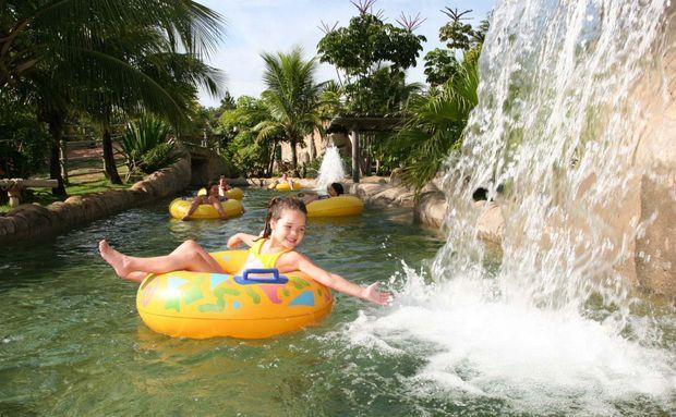 Hot Park do Rio Quente Resorts, em Rio Quente, Goiás