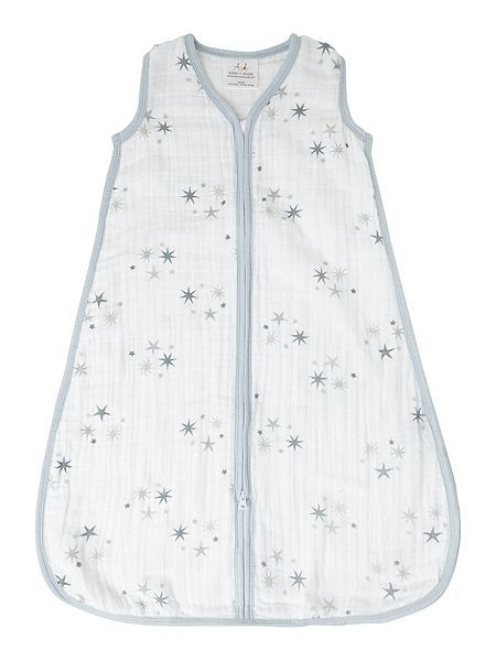 Babys printed muslin sleeping bag in giftbox