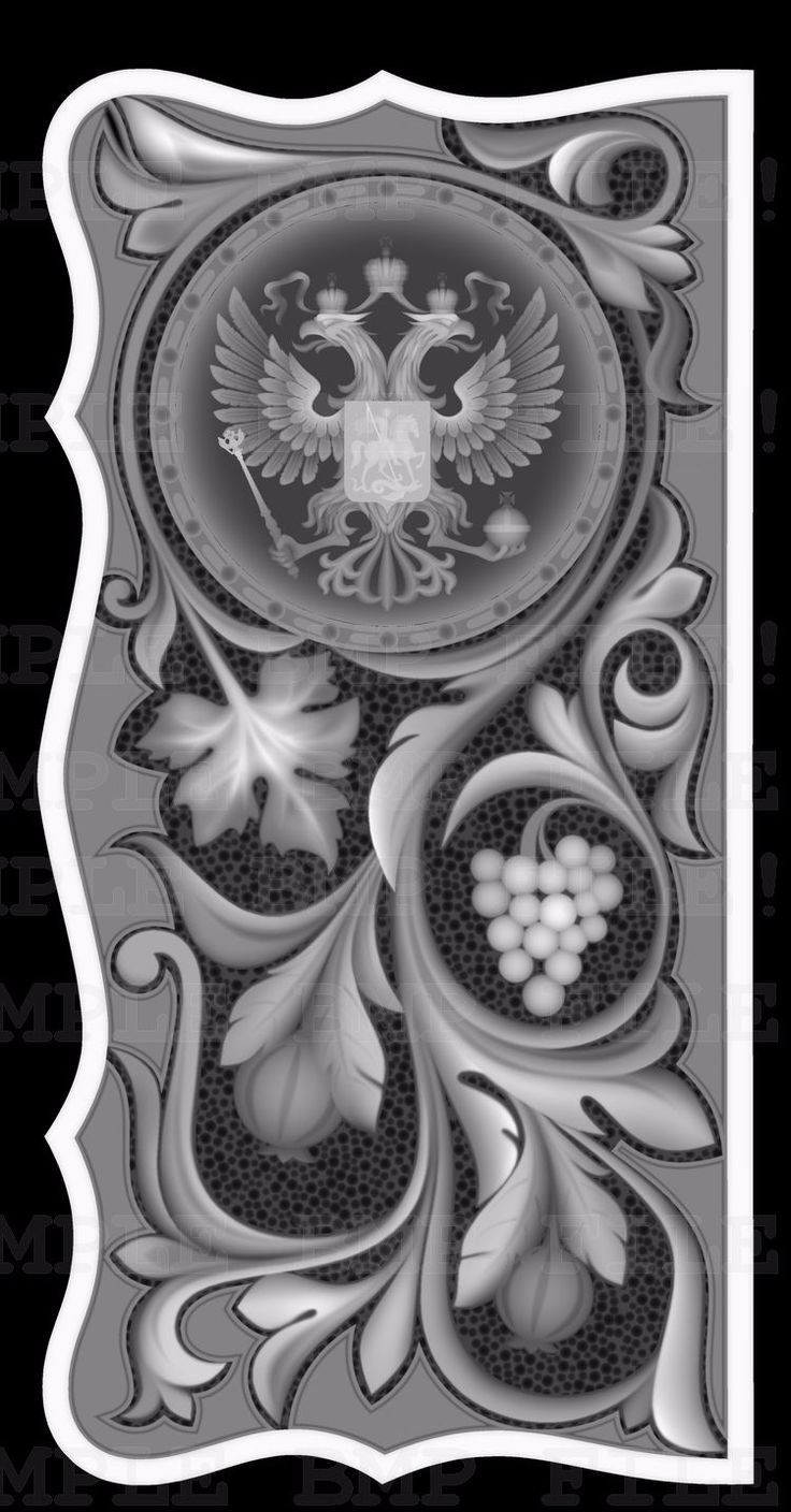 Grayscale 3d relief picture and images - Backgammon_22_bmp