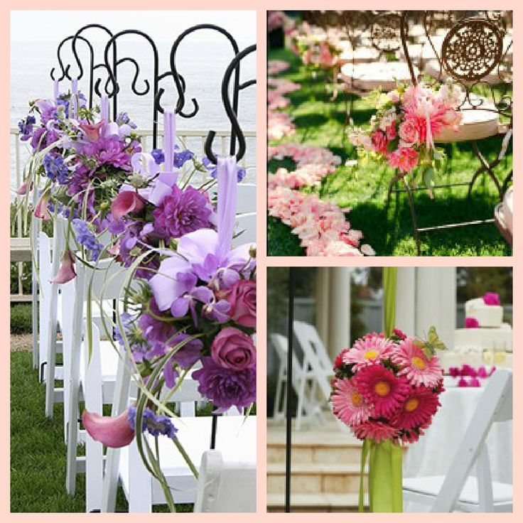 backyard wedding ceremony decoration ideas%0A Love this floral garden wedding d  cor