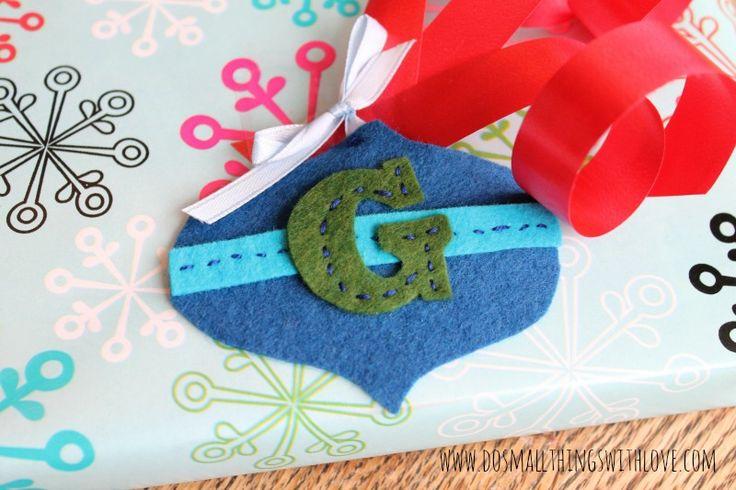 Ornament Shaped Felt Gift Tags