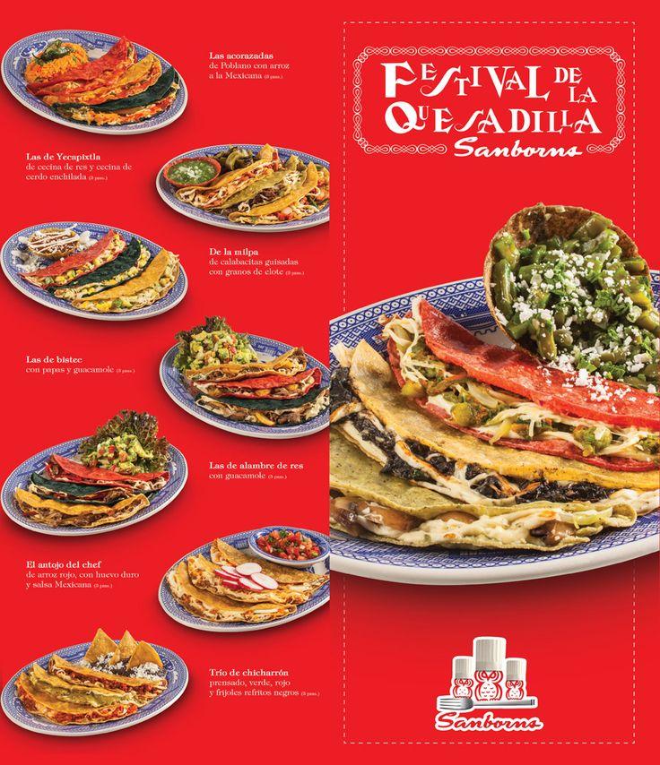 Sanborns festival de la quesadilla platillos de for Sanborns restaurant mexico