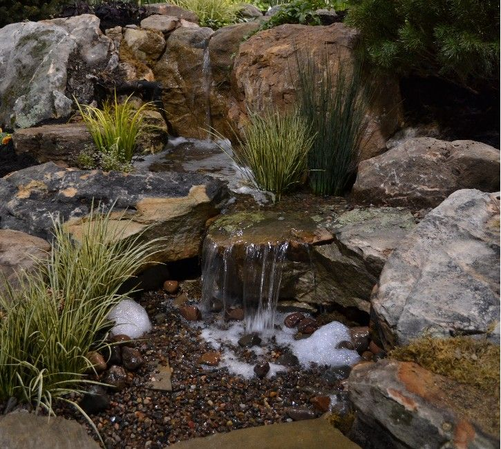 797 best backyard waterfalls and streams images on pinterest for Pond water features waterfalls