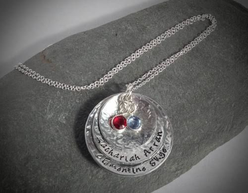 Hammered and Domed Necklace. A beautiful gift.