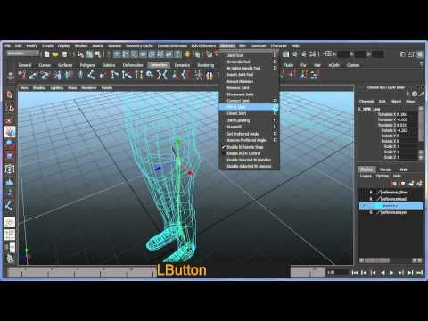 Basic bipedal character rigging setup in Maya - Part 1 of 8 - YouTube