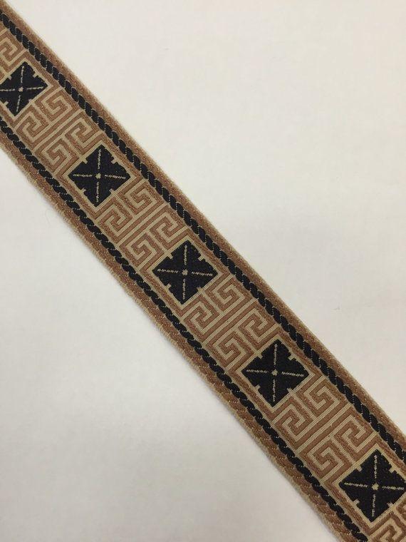 Plat clé grecque tresse cuivre et noir tresse par ShopMyFabrics