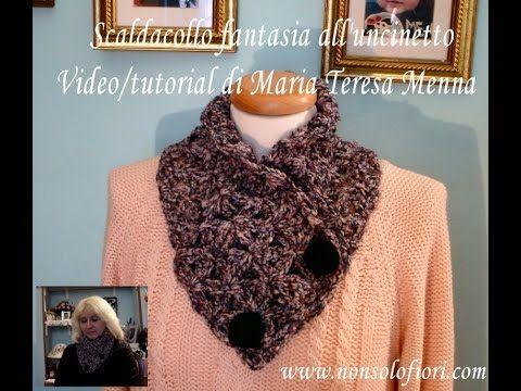 Scaldacollo all'uncinetto Video tutorial Scarf crochet - YouTube
