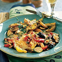 Mediterranean Chicken by Bon Appétit: Food Recipes, Mediterranean Chicken, Chicken Recipes, Maine Dishes, Enjoy Your Meal, Dinners, Maine Cour, Maincour, Healthy Food