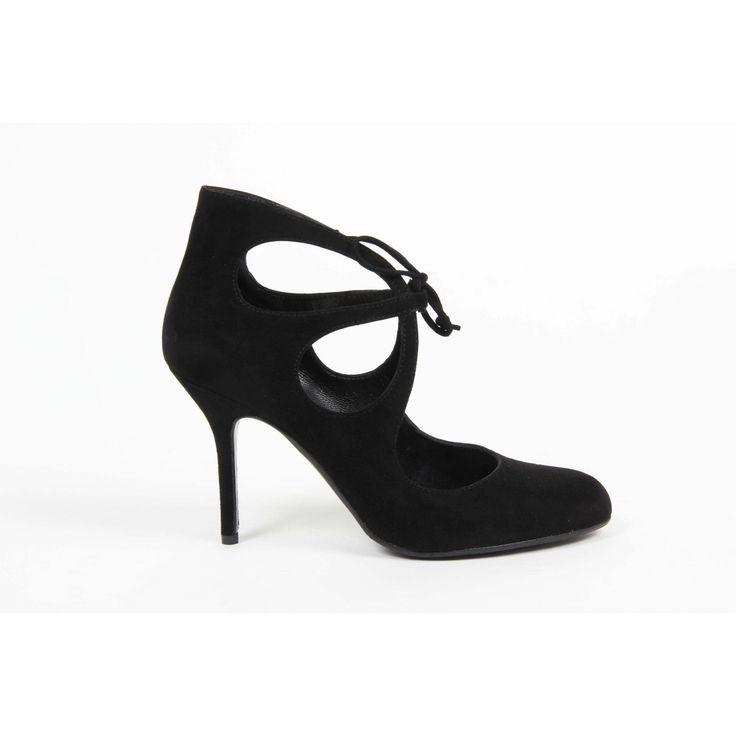 Versace 19.69 Abbigliamento Sportivo Srl Milano Italia Womens Ankle Boot G075 CAMOSCIO NERO