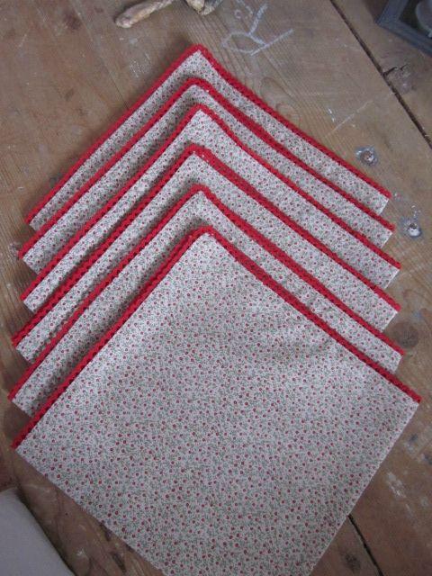 Set De 6 Serviettes De Table En Coton Cru Parsem D 39 Un