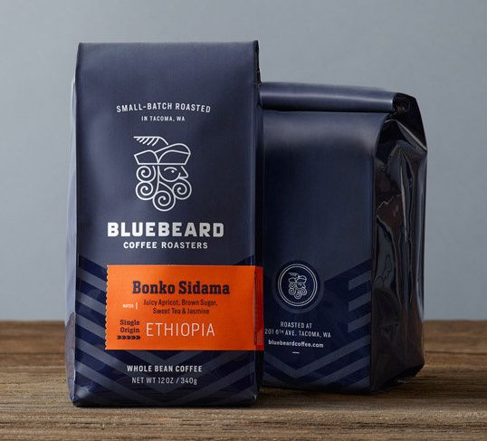 Blue Beard Coffee Roasters in Packaging Design