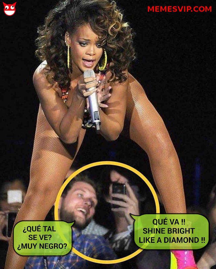 'Meme Rihanna brilla como un diamante' por memesVIP. Las divas brillan con luz propia. Pero ocultan un brillo mucho más intenso en su interior jua jua.