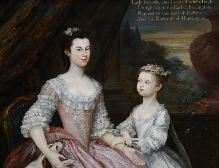 Lady Dorothy Boyle, Countess of Euston (1724 – 1742) and her Sister Lady Charlotte Boyle, later Marchioness of Hartington (1731-1754)  1129207 | National Trust Collections