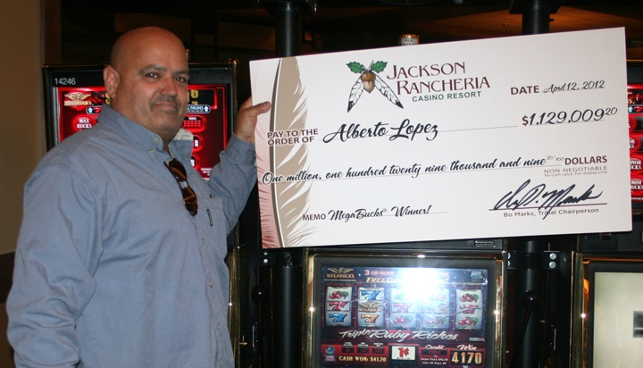 Alberto Lopez from Livermore was supposed to be installing windows at a school on Thursday, April 12, but instead became a millionaire while playing a penny slot machine at Jackson Rancheria Casino Resort.  Go to RVSHOW.net and print out coupon and get FREE Twenty Five Dollar Slot Play.