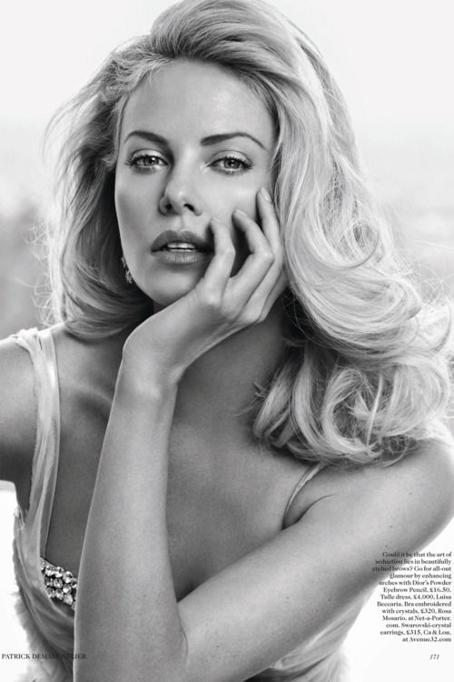 charlize: Charlize Theron, Girls Crushes, Gifts Cards, Patrick'S Demarchelier, Charlizetheron, Vogue Uk, British Vogue, Hair Style, New Mom
