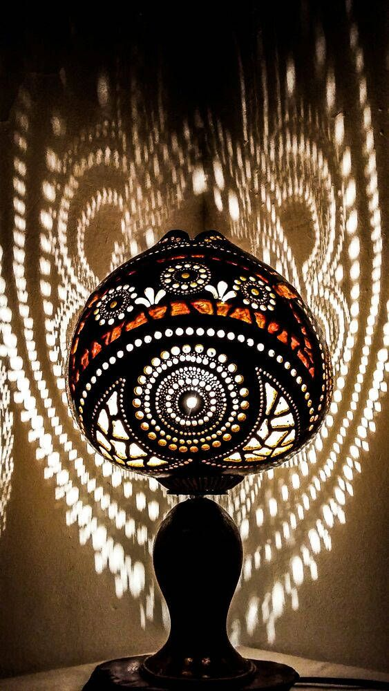 100% HANDMADE Gourd lamps handcrafted Ottoman Turkish lamp